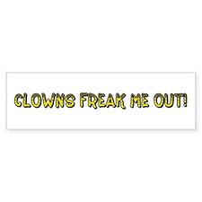Clowns Freak Me Out Bumper Bumper Sticker