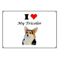 I love my Tricolor Corgi Banner