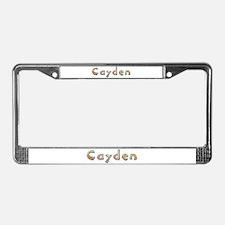 Cayden Giraffe License Plate Frame