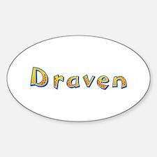 Draven Giraffe Oval Decal