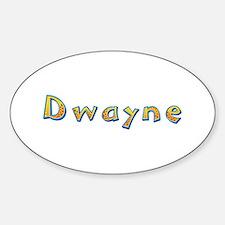 Dwayne Giraffe Oval Decal