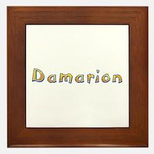 Damarion Giraffe Framed Tile