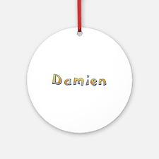 Damien Giraffe Round Ornament