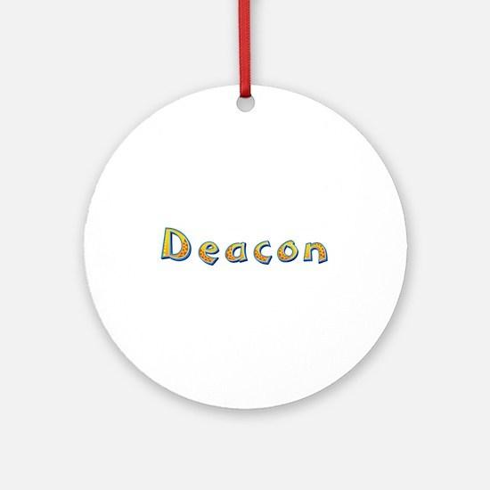 Deacon Giraffe Round Ornament