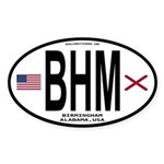 Birmingham Alabama Sticker - BHM (Oval)