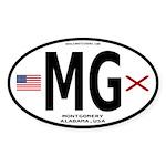 Montgomery Alabama Sticker - MG (Oval)