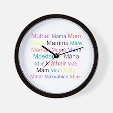 Ways To Say Mom Wall Clock