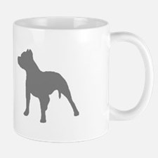pitbull gray 2 Mugs