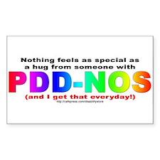 PDD-NOS Hug Rectangle Decal