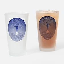Winter Blue Drinking Glass