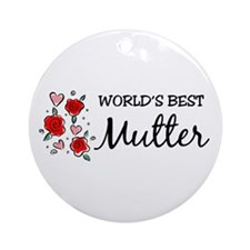WB Mom [German] Ornament (Round)