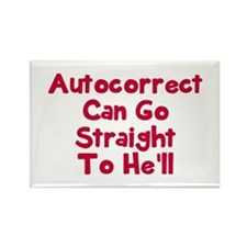Autocorrect can go to he'll Rectangle Magnet