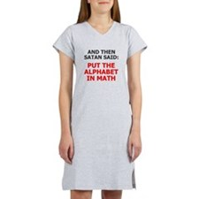Satan Alphabet Math Women's Nightshirt