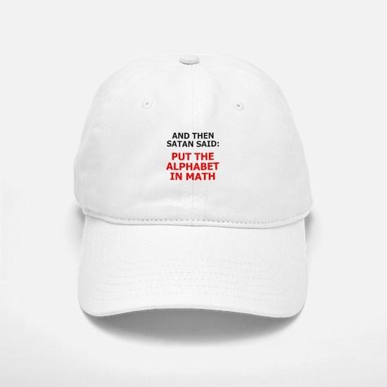 Satan Alphabet Math Baseball Baseball Cap