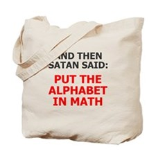 Satan Alphabet Math Tote Bag