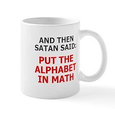 Satan Alphabet Math Mug