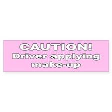 Woman driver Bumper Car Sticker