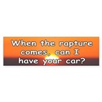 The Rapture Bumper Sticker