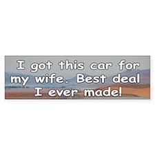 Traded Wife Bumper Bumper Sticker