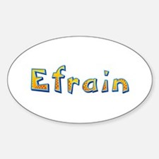 Efrain Giraffe Oval Decal