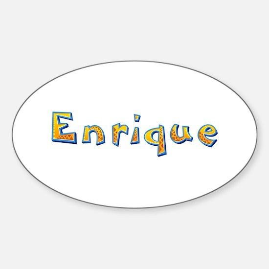 Enrique Giraffe Oval Bumper Stickers
