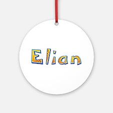 Elian Giraffe Round Ornament