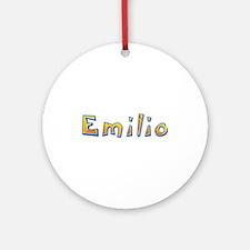 Emilio Giraffe Round Ornament