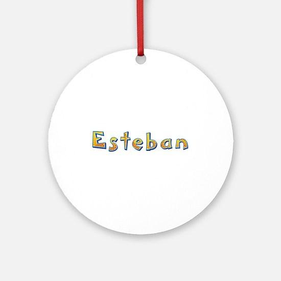 Esteban Giraffe Round Ornament