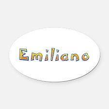 Emiliano Giraffe Oval Car Magnet