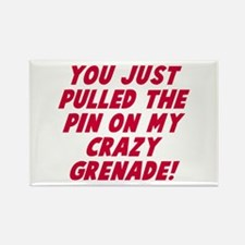 Pin on my crazy grenade Rectangle Magnet