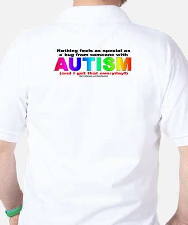 AUTISM Hug (backprint) Golf Shirt