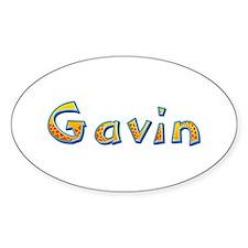 Gavin Giraffe Oval Decal