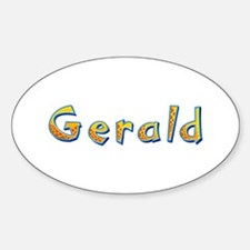 Gerald Giraffe Oval Decal