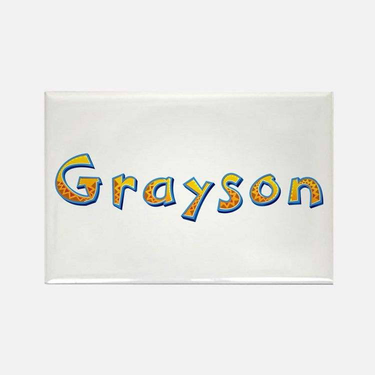 Grayson Giraffe Rectangle Magnet