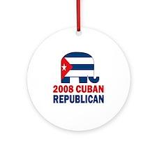 Cuban Republican Ornament (Round)