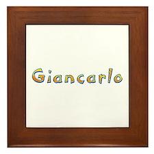 Giancarlo Giraffe Framed Tile