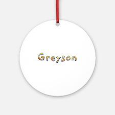 Greyson Giraffe Round Ornament