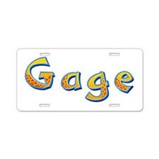 Gage Giraffe Aluminum License Plate