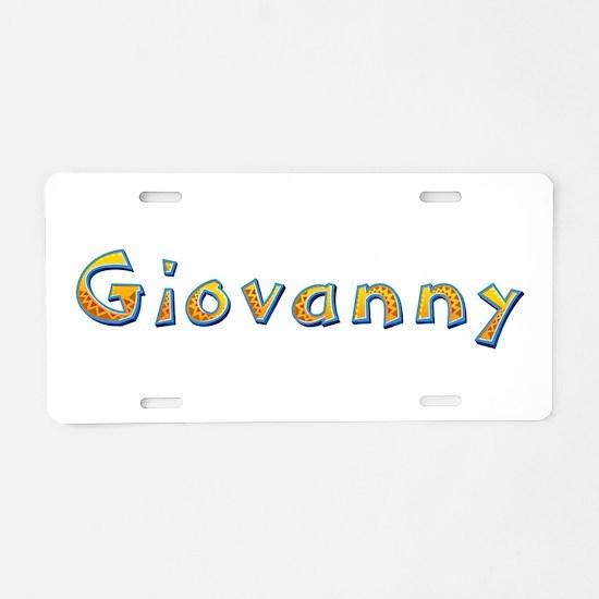 Giovanny Giraffe Aluminum License Plate