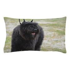 Black Cattle Dog Pillow Case