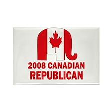 Canadian Republican Rectangle Magnet