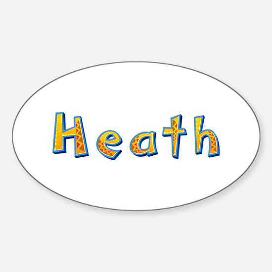 Heath Giraffe Oval Decal