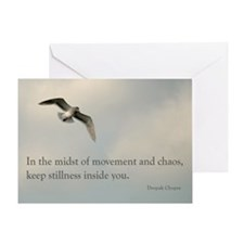 In The Midst Of The Movement Greeting Card