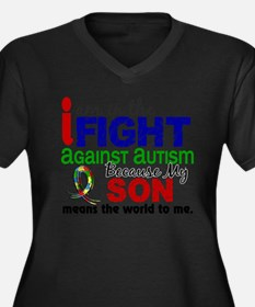 In The Fight 2 Autism Plus Size T-Shirt