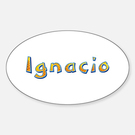Ignacio Giraffe Oval Decal
