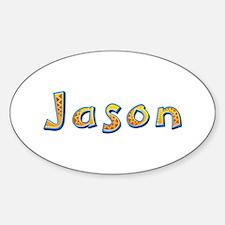 Jason Giraffe Oval Decal