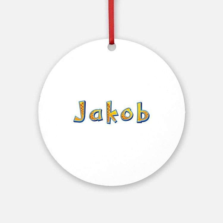 Jakob Giraffe Round Ornament
