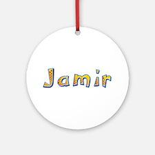 Jamir Giraffe Round Ornament