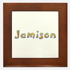 Jamison Giraffe Framed Tile