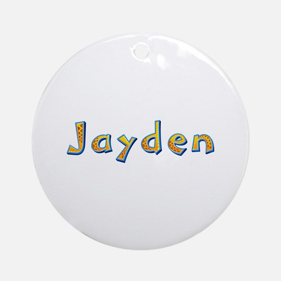 Jayden Giraffe Round Ornament